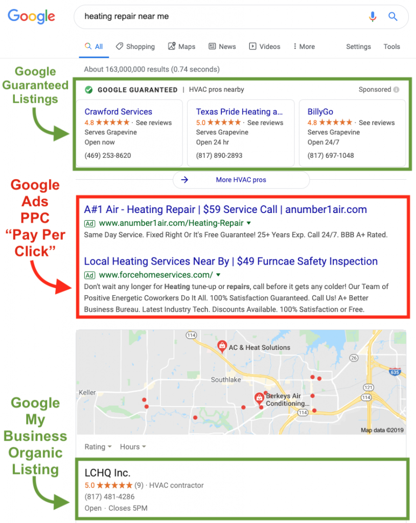 Local Search Optimization for Small Business